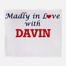 Madly in love with Davin Throw Blanket