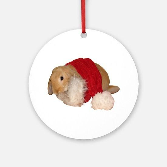 """Xmas Bunny 1"" Ornament (Round)"