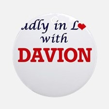 Madly in love with Davion Round Ornament