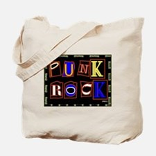 Punk Rock Design Tote Bag