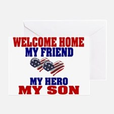 welcome home my son Greeting Card