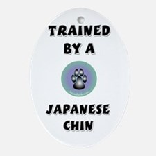 Trained by a Chin Keepsake (Oval)