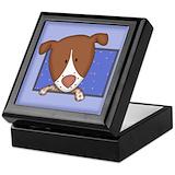 German shorthaired pointer keepsake box Square Keepsake Boxes