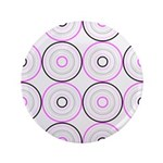 "Pink & Black Retro 3.5"" Button (100 pack)"