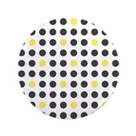 "Mod Black Polka Dots 3.5"" Button (100 pack)"