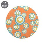 "Retro Bulls Eye Spots 3.5"" Button (10 pack)"