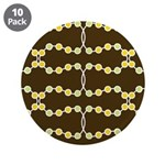"Retro Dots Art 3.5"" Button (10 pack)"