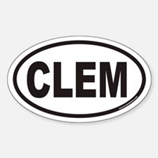 Clemson CLEM Euro Oval Decal