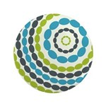 "Beaded Circles Retro Mod 3.5"" Button (100 pack)"