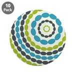 "Beaded Circles Retro Mod 3.5"" Button (10 pack)"
