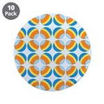 "Mod Print Polka Dot 3.5"" Button (10 pack)"