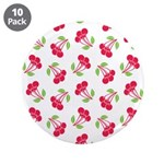 "Cherries Pattern 3.5"" Button (10 pack)"