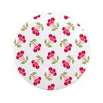 """Cherries Pattern 3.5"""" Button"""