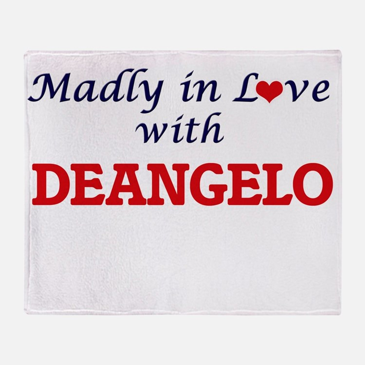 Madly in love with Deangelo Throw Blanket