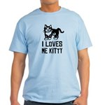 I LoVES ME KITTY - Men's Light T-Shirt