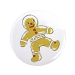 "Victorian Gingerbread Man 3.5"" Button (100 pack)"