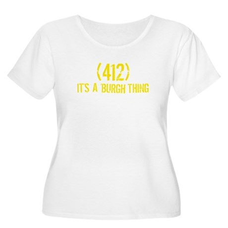 412 It's a Burgh Thing Women's Plus Size Scoop Nec