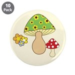 "Magic Mushroom Art 3.5"" Button (10 pack)"