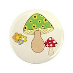 "Magic Mushroom Art 3.5"" Button"
