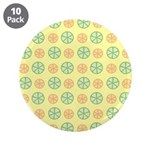"Orange & Lime Citrus 3.5"" Button (10 pack)"
