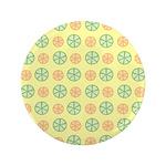 """Orange & Lime Citrus 3.5"""" Button"""