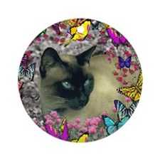 Stella in Butterflies Ornament (Round)