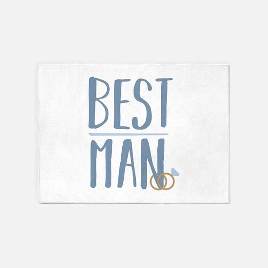 Best Man 5'x7'Area Rug