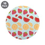 "Modern Fruit Art 3.5"" Button (10 pack)"