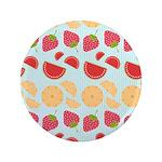 """Modern Fruit Art 3.5"""" Button"""