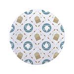 "Vintage Tea Pattern 3.5"" Button"