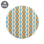 "White & Orange Mod Print 3.5"" Button (10 pack)"