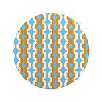 """White & Orange Mod Print 3.5"""" Button"""