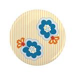 """Floral Paisley Retro 3.5"""" Button"""