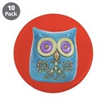 "Toy Modern Owl Art 3.5"" Button (10 pack)"