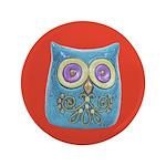 """Toy Modern Owl Art 3.5"""" Button"""