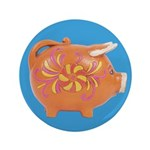 "Vintage Toy Pig Art 3.5"" Button (100 pack)"