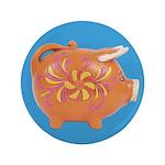 "Vintage Toy Pig Art 3.5"" Button"