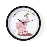 Baby elephant Wall Clocks