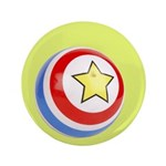 "Toy Ball Vintage Print 3.5"" Button (100 pack)"