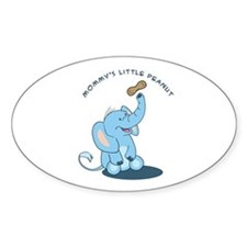 Mommy's little peanut - blue Oval Decal