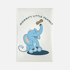 Mommy's little peanut - blue Rectangle Magnet