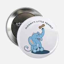 "Mommy's little peanut - blue 2.25"" Button"