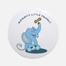 Mommy's little peanut - blue Ornament (Round)