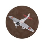 "Vintage WWII Aircraft Art 3.5"" Button"