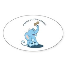 Daddy's little peanut Oval Decal