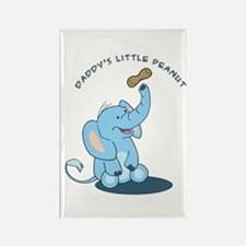 Daddy's little peanut Rectangle Magnet