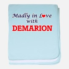 Madly in love with Demarion baby blanket