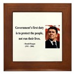 Ronald Reagan 2 Framed Tile