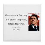 Ronald Reagan 2 Tile Coaster