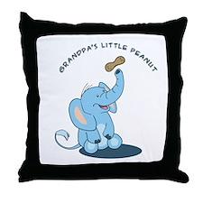 Grandpa's little peanut Throw Pillow